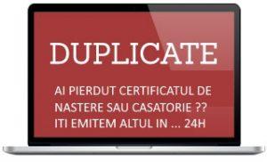 duplicat certificat de nastere